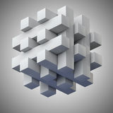 Jigsaw puzzle with blocks forming Stock Photography