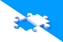 Jigsaw puzzle on blue background Royalty Free Stock Photo