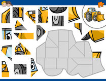 Jigsaw puzzle with bulldozer Royalty Free Illustration