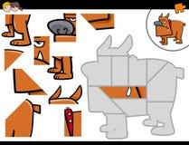Jigsaw puzzle with cartoon dog Stock Photography