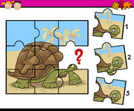 Jigsaw puzzle cartoon game Royalty Free Stock Images