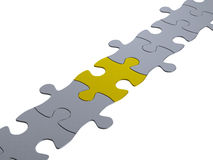 Jigsaw puzzle chain Royalty Free Stock Image