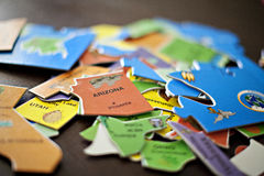 Jigsaw US puzzle Stock Images