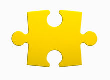 Jigsaw puzzle. Closeup of jigsaw puzzle piece isolated on white Royalty Free Stock Photos