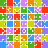 Jigsaw puzzle color parts template. 7x7 pieces. Royalty Free Stock Photo