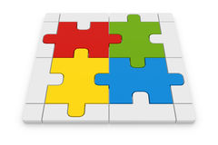 Jigsaw puzzle. This is a computer generated and 3d rendered image Stock Photo