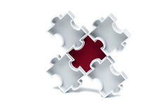 Jigsaw puzzle concept Royalty Free Stock Photos