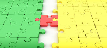Jigsaw puzzle connect Stock Image