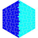 Jigsaw Puzzle cube Royalty Free Stock Photo