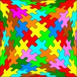 Jigsaw Puzzle cube Stock Image