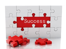jigsaw puzzle 3 d Biznesowy twórczości i sukcesu pojęcie Ilustracji
