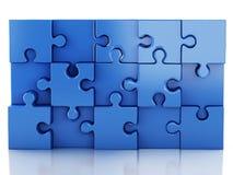 jigsaw puzzle 3 d Biznesowy twórczości i sukcesu pojęcie Ilustracja Wektor