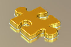 Jigsaw puzzle, 3D rendering. On white background Royalty Free Stock Photos