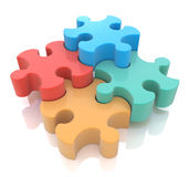 Jigsaw Puzzle. In the design of the information associated with abstraction vector illustration