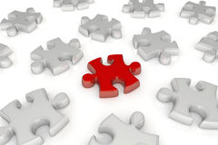 Jigsaw puzzle - Different piece Royalty Free Stock Photo