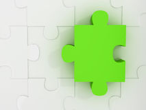 Jigsaw Puzzle with Dimension Stock Photo