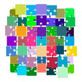 Jigsaw puzzle. Disconnected puzzle. Royalty Free Stock Images