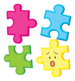 Jigsaw puzzle in four pieces Royalty Free Stock Image