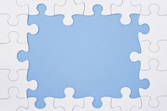Jigsaw puzzle frame Stock Photo