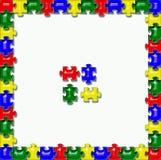 Jigsaw Puzzle Frame Background Stock Photos