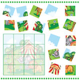 Jigsaw Puzzle game for Children vector illustration