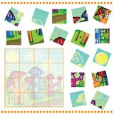 Jigsaw Puzzle game for Children Stock Photo