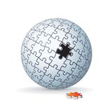 Jigsaw Puzzle Globe, Sphere Royalty Free Stock Photography