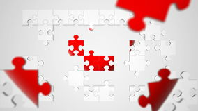 Jigsaw Puzzle Heart Animation stock footage