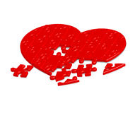 Jigsaw puzzle heart Stock Photos