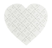 Jigsaw puzzle heart Stock Photo