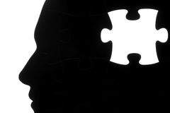 Jigsaw puzzle human head Stock Photo