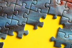 Jigsaw puzzle i. N progress Stock Photography