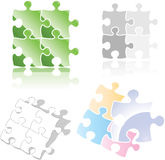 Jigsaw puzzle icon Royalty Free Stock Image