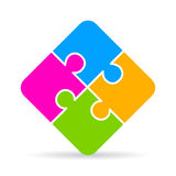 Jigsaw puzzle icon. Vector illustration Royalty Free Stock Photo