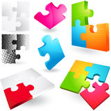 Jigsaw Puzzle Icons Royalty Free Stock Photography