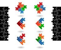 Jigsaw puzzle icons Stock Image