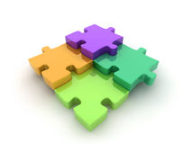 Jigsaw puzzle illustration Stock Photos