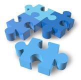 Jigsaw puzzle isolated. On white stock illustration