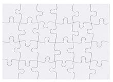 Jigsaw Puzzle Isolated Stock Photos