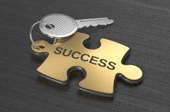 Jigsaw puzzle with a key Stock Photos