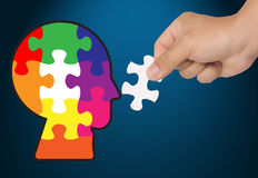 Jigsaw puzzle last past Royalty Free Stock Photo