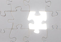 Jigsaw puzzle light Stock Image