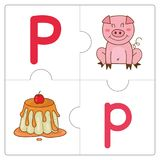 The jigsaw puzzle match words -P Stock Images