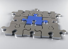 Jigsaw Puzzle Metal Stock Photography