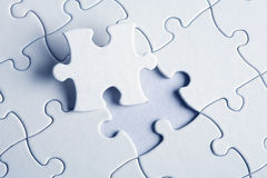 Jigsaw puzzle with the missing Stock Photo