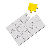 Jigsaw puzzle with a missing golden piece Stock Photos