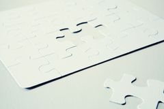 Jigsaw Puzzle With Missing Piece Royalty Free Stock Photography