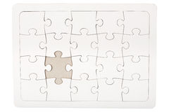 Jigsaw puzzle with missing piece Stock Image