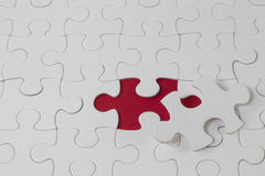 Jigsaw puzzle with the missing piece Royalty Free Stock Images
