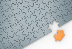 Jigsaw puzzle with missing piece. 3D illustrating. Stock Photos